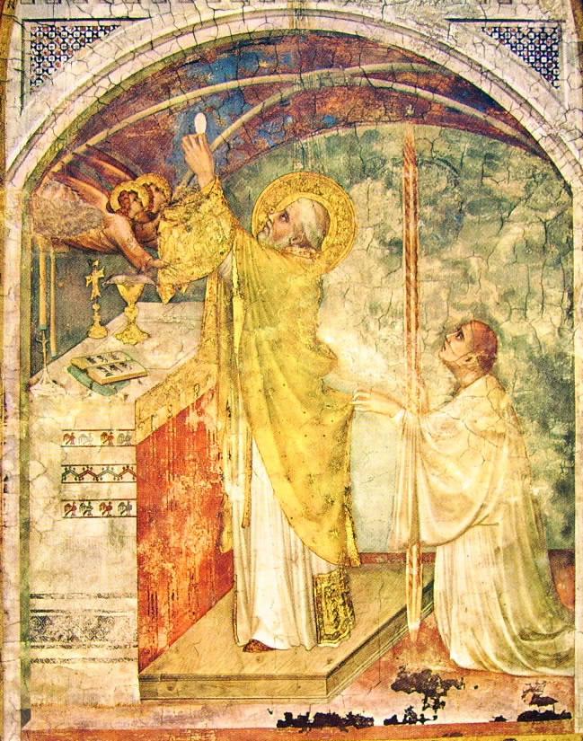 Simone Martini: Storie di San Martino - La Messa miracolosa