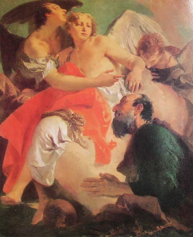 Il Tiepolo: Abramo e gli Angeli