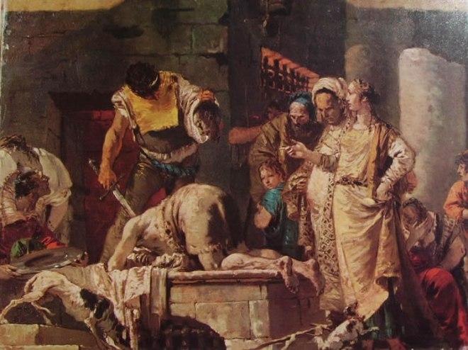 Il Tiepolo: La decollazione del Battista (modelletto)