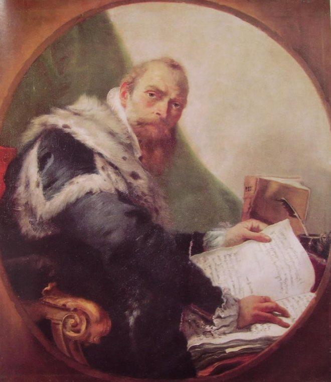 Il Tiepolo: Ritratto di Antonio Riccobono