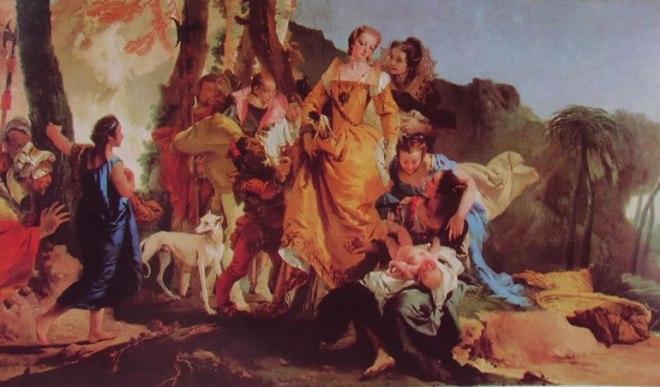 Il Tiepolo: Mosè salvato dalle acque