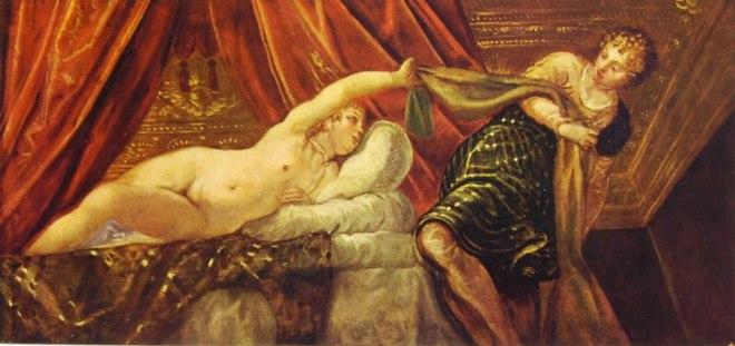Il Tintoretto: Giuseppe e la moglie di Putifarre