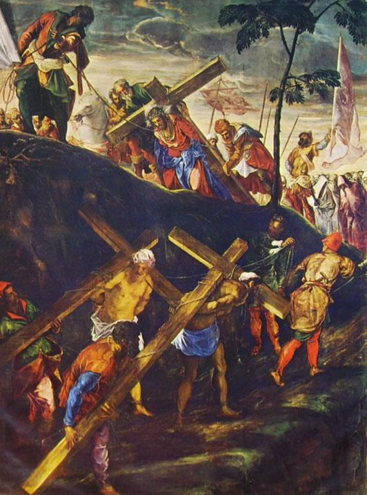 Il Tintoretto: Dipinti per la sala dell'albergo di San Rocco - La salita al Calvario
