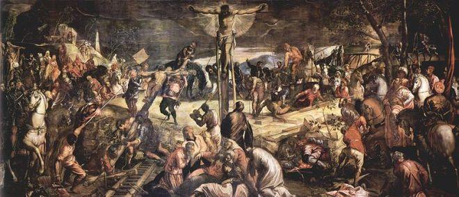 Il Tintoretto: Dipinti per la sala dell'albergo di San Rocco - La Crocifissione