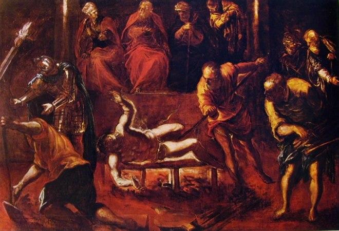 Il Tintoretto: Il martirio di San Lorenzo
