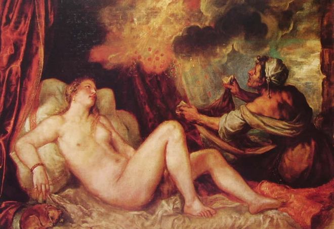 Tiziano: Danae del Museo Nacional del prado