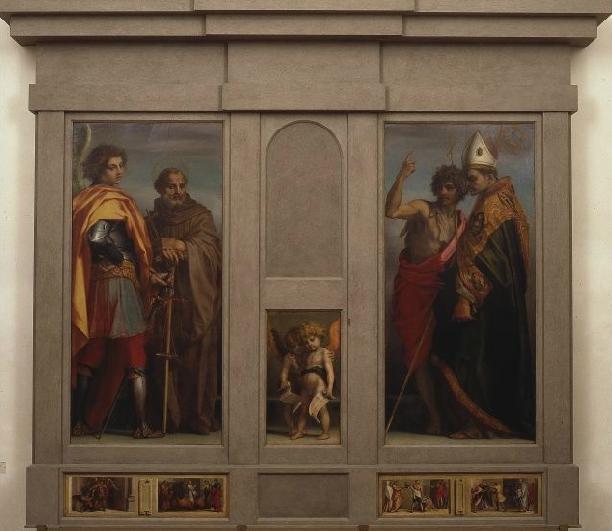Andrea del Sarto: Dossale dei quattro santi (Pala di Vallombrosa)