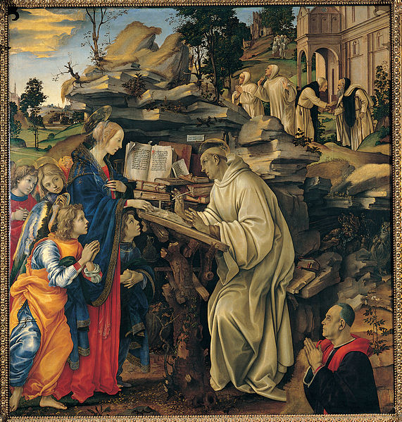Filippino Lippi: Apparizione della Vergine a san Bernardo