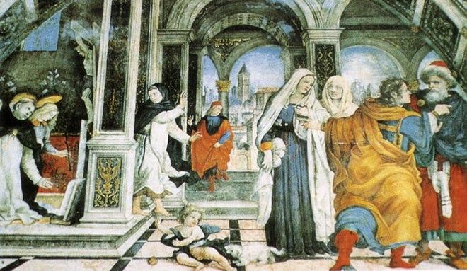 Filippino Lippi -Cappella Carafa: Scene dalla vita di san Tommaso d'Aquino.