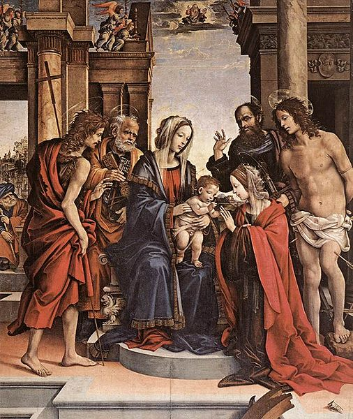 Filippino Lippi: Matrimonio mistico di santa Caterina di Alessandria