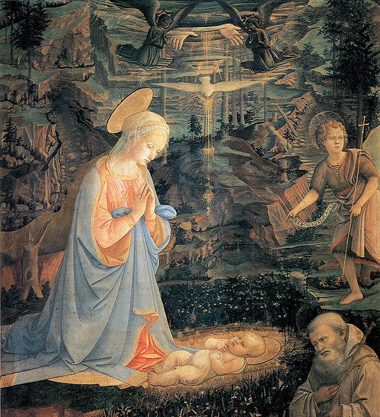 Filippo Lippi: Adorazione del Bambino di Camaldoli