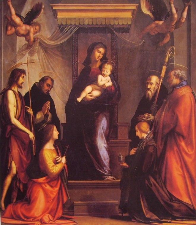 Fra' Bartolomeo: Madonna col Bambino e sei santi