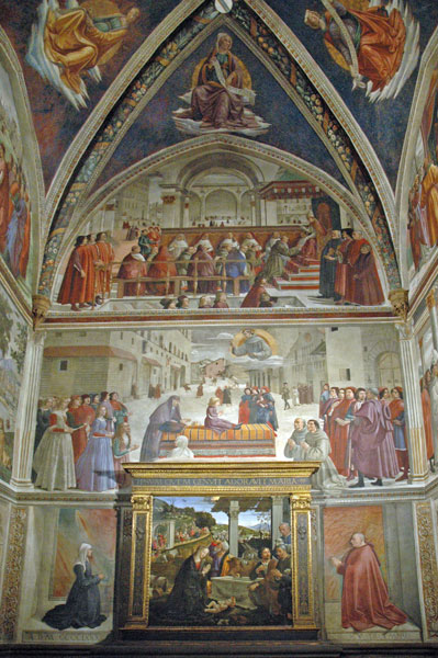 Domenico Ghirlandaio: Affreschi della Cappella Sassetti
