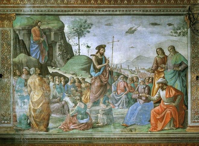 Domenico Ghirlandaio: Predicazione del Battista.
