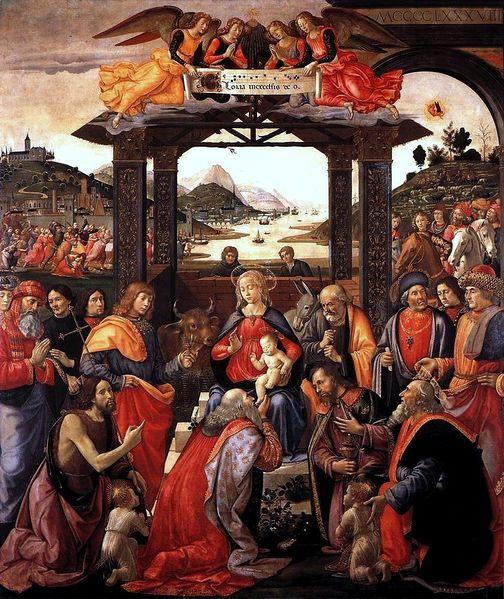 Domenico Ghirlandaio: Adorazione dei Magi degli Innocenti