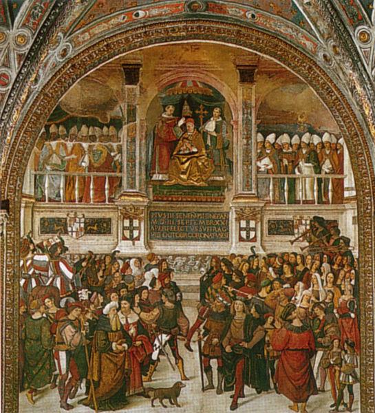 Pinturicchio: Incoronazione di Pio III