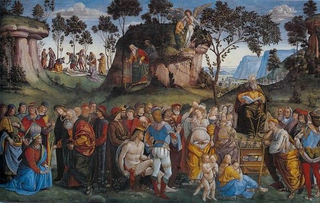 Luca Signorelli: Testamento e morte di Mosè