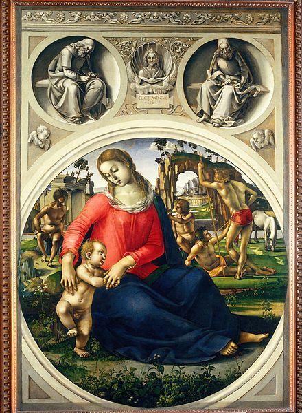 Luca Signorelli: Madonna col Bambino tra ignudi