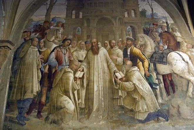 """Bartolomeo Neroni (Riccio): """"Storie di San Benedetto""""Come Benedetto manda Mauro in Francia"""