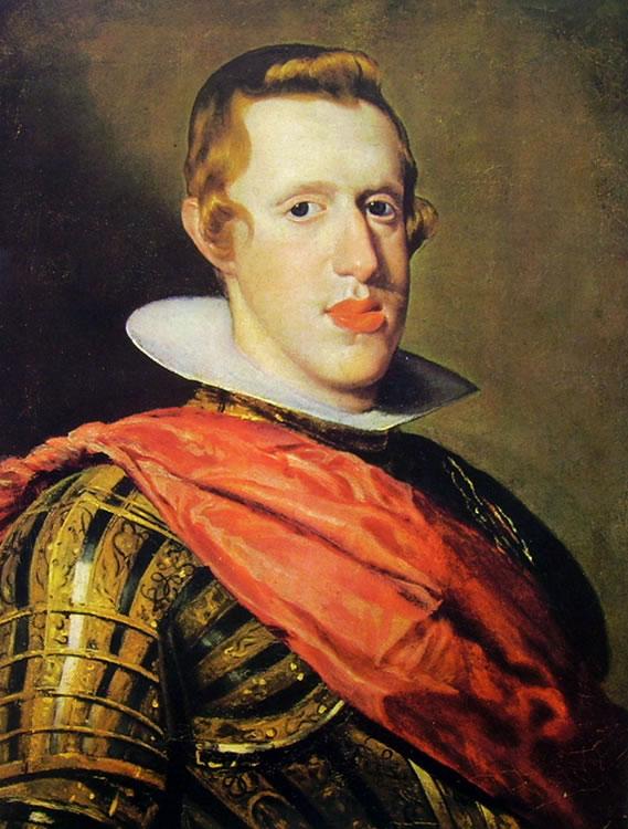 Filippo IV con corazza, Madrid Prado, 57 x 44 cm.