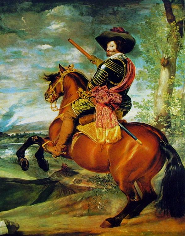 Il conte duca De Olivares a cavallo, Madrid Prado (cm. 239)