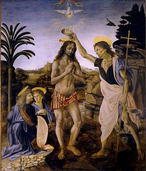 Andrea del Verrocchio: Il Battesimo di Cristo