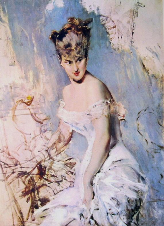 Giovanni Boldini: L'attrice Alice Regnault