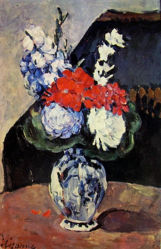 Paul Cezanne: Vasetto di delft con fiori