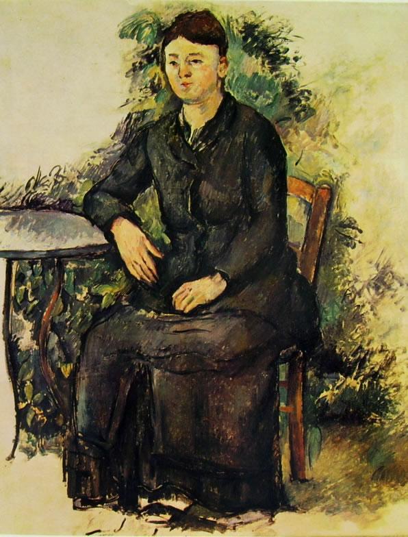 Paul Cezanne: La signora Cezanne in giardino