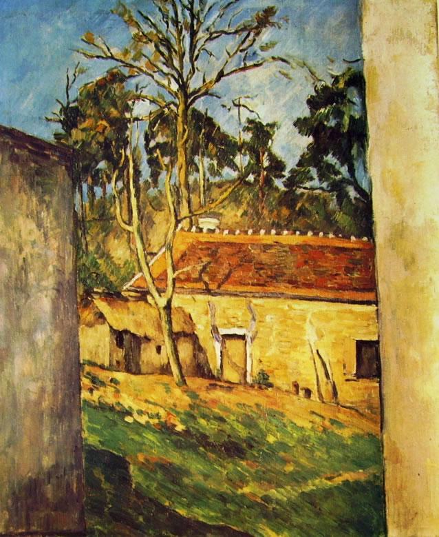 Paul Cezanne: Cortile di fattoria