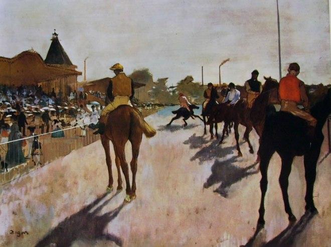 Edgar Degas: Fantini davanti alle tribune