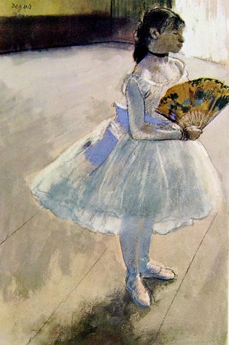 Ballerina col ventaglio, 1879, pastello cm. 45x29 c