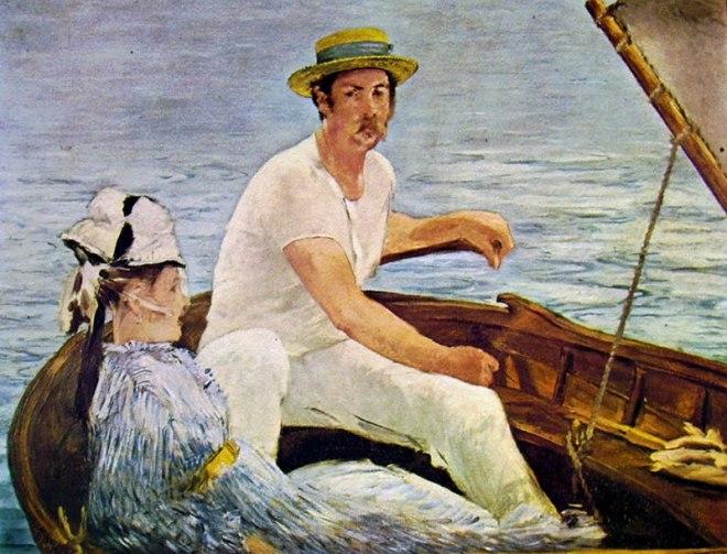In barca di Manet