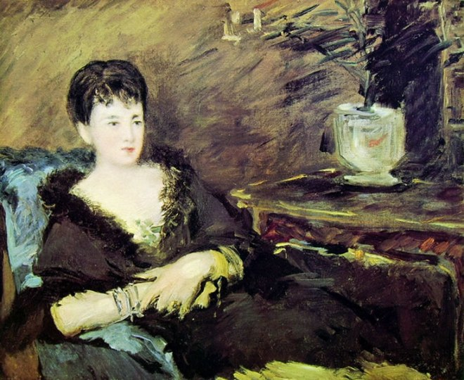 Edouard Manet: Isabelle Lemonnier seduta