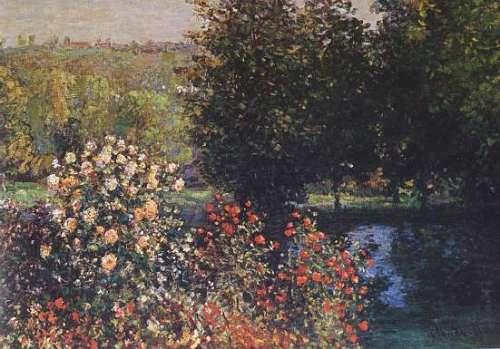 Claude Monet - Rosai nel giardino a Montgeron