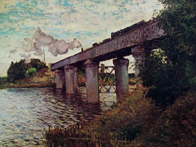 Claude Monet: Il ponte della ferrovia ad Argenteuil