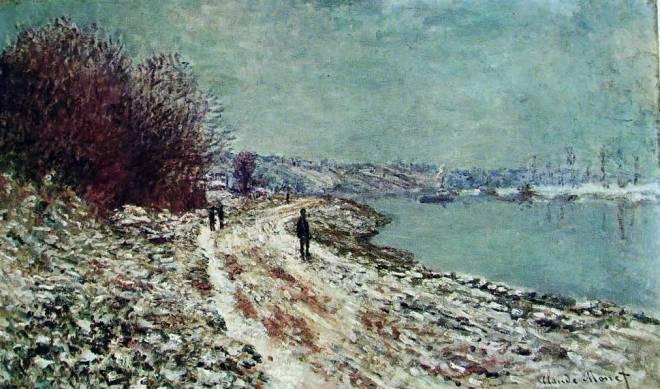 Claude Monet: Veduta di Vetheuil d'inverno