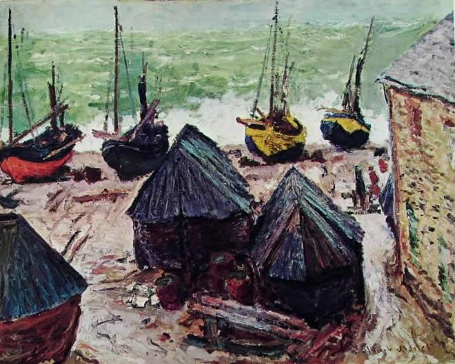 Claude Monet: Battelli ibernanti a Etretat