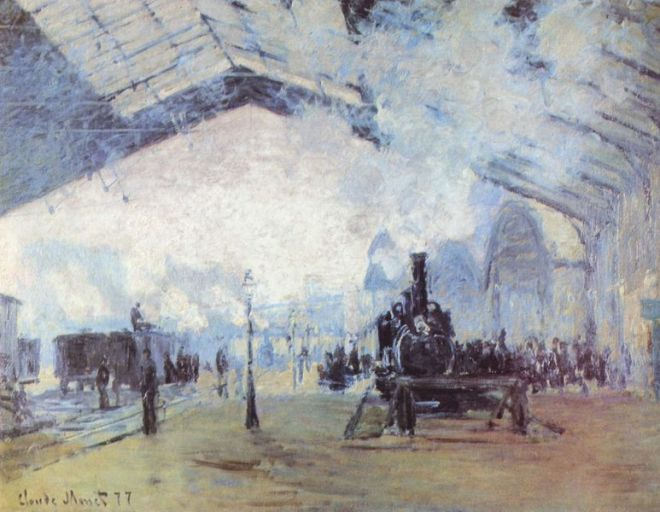 Claude Monet: La Gare Saint-Lazare
