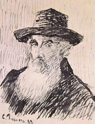 Autoritratto del 1888, disegno eseguito a penna, Pubblic library New York