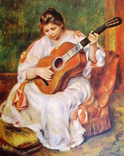Renoir - Donna con chitarra