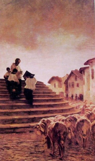 Segantini - La benedizione delle pecore