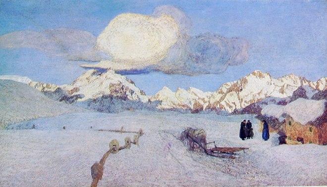 Giovanni Segantini - Il trittico della natura: La morte