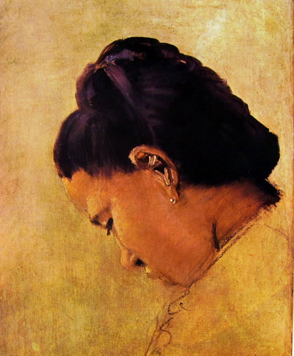 Georges-Pierre Seurat: Testa di giovane donna