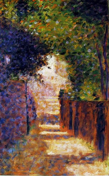 Georges-Pierre Seurat: Rue Saint-Vincent a Montmartre in Primavera