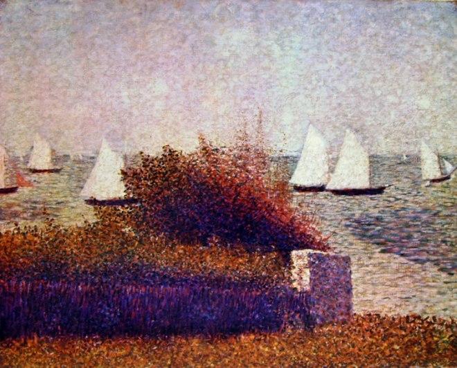 Georges-Pierre Seurat: Barche a vela a Grandcamp