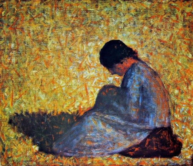 Georges-Pierre Seurat: Donna seduta in un prato