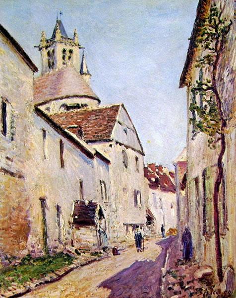 Alfred Sisley: Rue de la Tannerie a Moret