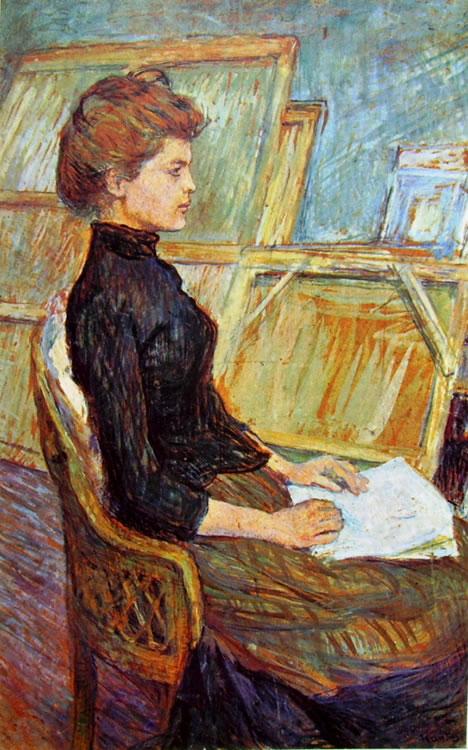 Toulouse-Lautrec: Modella nello studio - Helene Vary