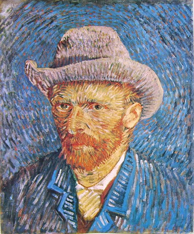 Autoritratto dell'estate 1887 con cappello di feltro